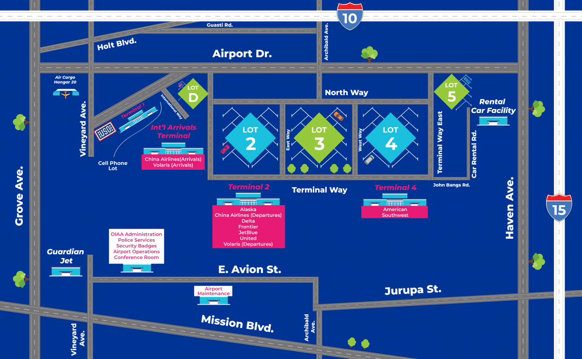 Airport Directions | Ontario International Airport