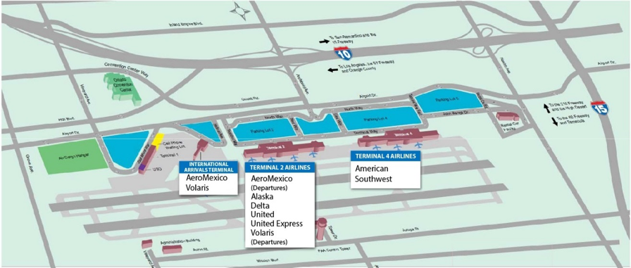 Ontario airport parking map my blog for Lax long term parking lot