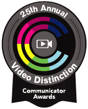 25th Annual Video Distinction Communicator Award logo