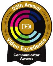 25th Annual Video Excellence Communicator Award logo