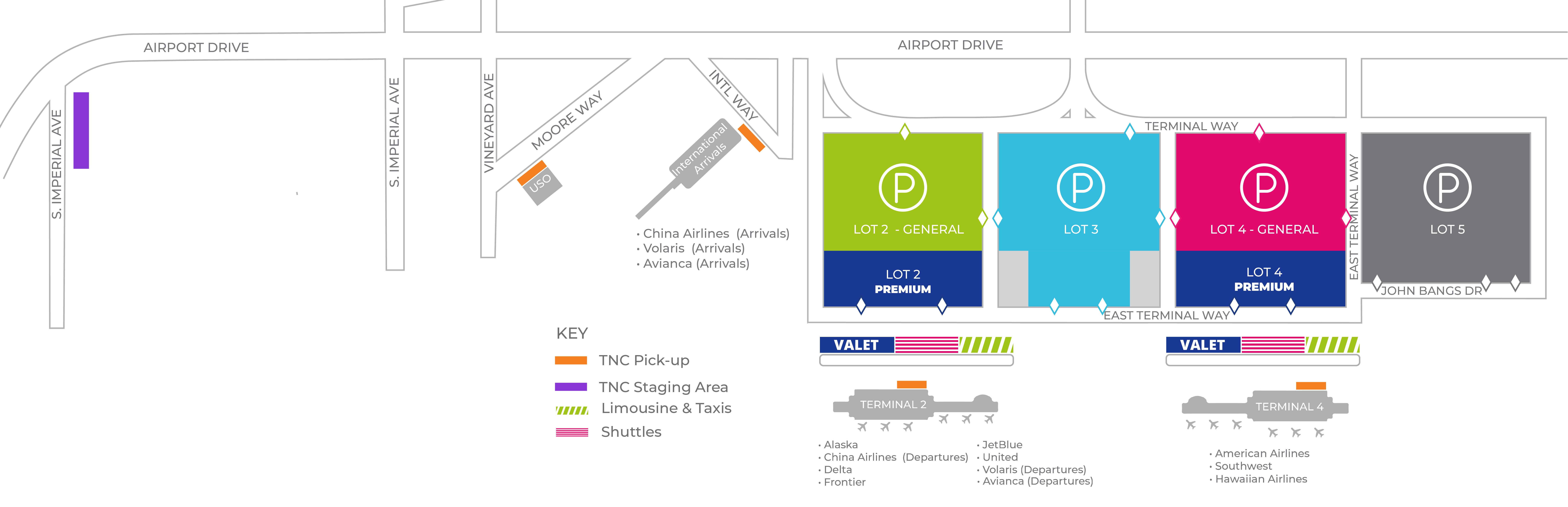 Mapa de estacionamiento de Ontario