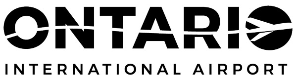 Ontario Airport Logo in Black and White