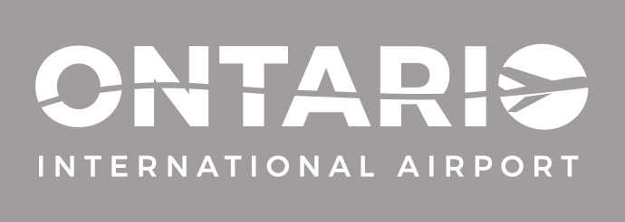 Ontario Airport Logo in White